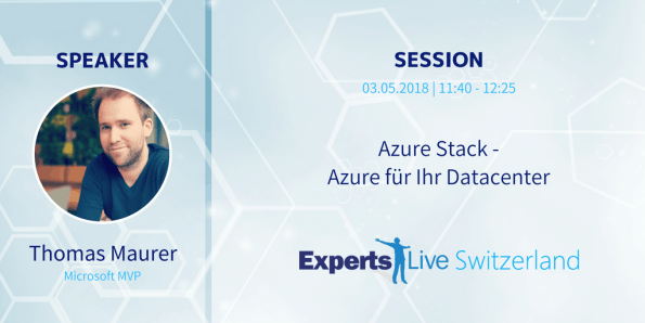 Speaking at Experts Live Switzerland 2018