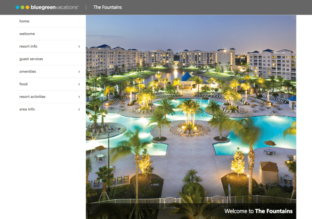 Corporate resort directory design