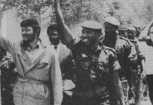 Sankara et Rawlilngs à Bobo Dioulasso le 17 février 1984