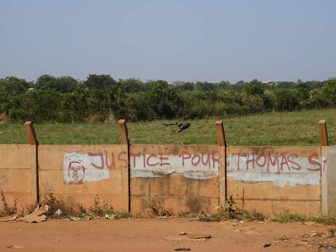 Tag Justice pour Sankara à Ouagadougou