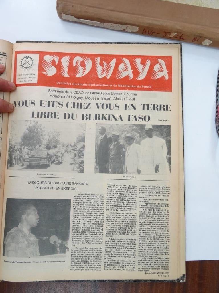 Photo Sidwaya révolutionnaire