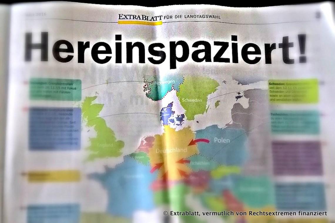 AfD-Extrablatt zur Landtagswahl 2016 in Rheinland-Pfalz