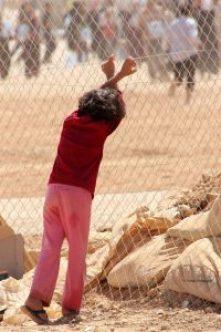Syrian refugee in Zaatari © Tom Rübenach