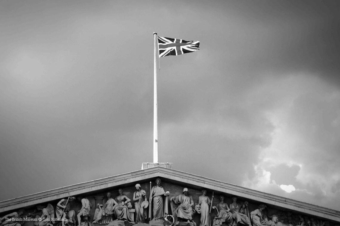 Der Union Jack auf dem British Museum © Tom Rübenach