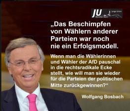 Trump, Bosbach, AfD - interessantes Verständnis