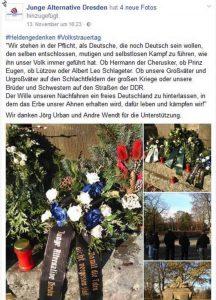 Weltkriege als Freiheitskampf   Rechtsextremismus bei AfD-Jugend Dresden im November 2016