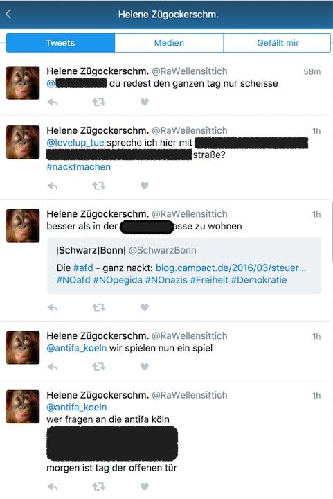 In einem Twittereintrag drohen Rechtsradikale denen, die sie bekämpfen, ganz offen und veröffentlichen Anschhriften der Gegener. Screenshot Twitter