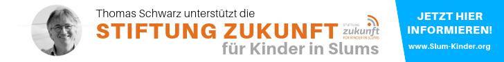 """Thomas Schwarz unterstützt die """"Stiftung Zukunft für Kinder in Slums"""""""