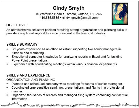 A Proper Resume Example