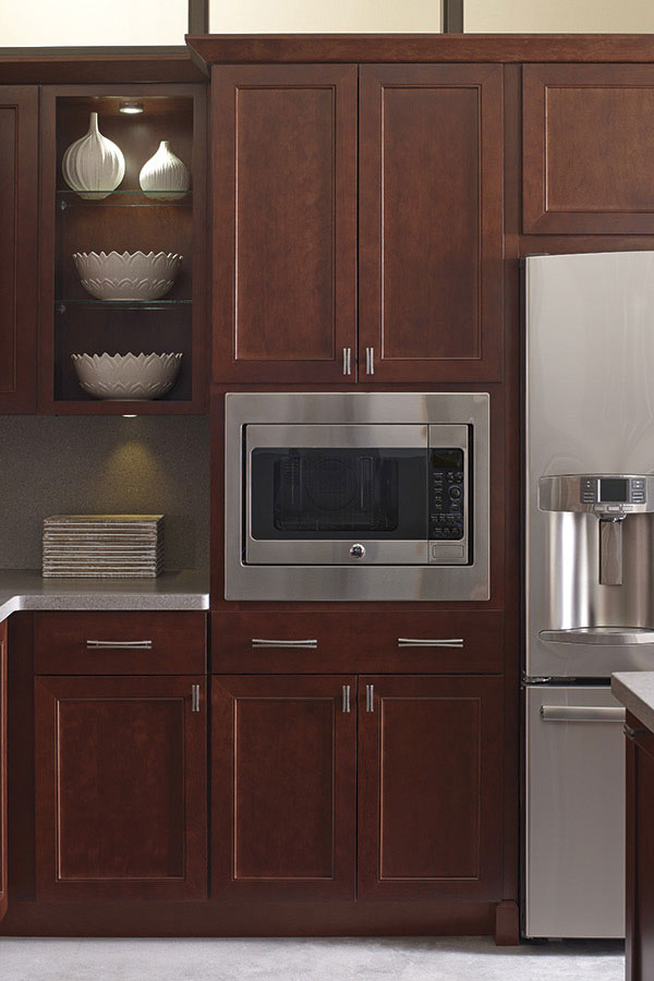 built in microwave cabinet
