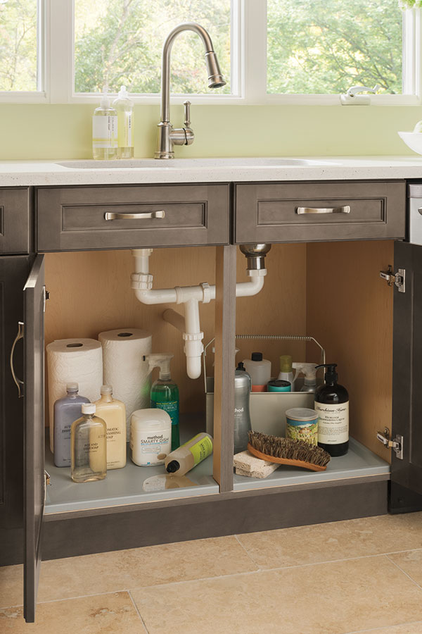 sink base with cabinet mat
