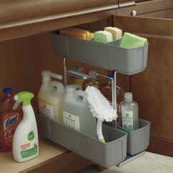 Thomasville Kitchen Cabinets L Shaped Outdoor - Organization Sink Base Cleaning Caddy