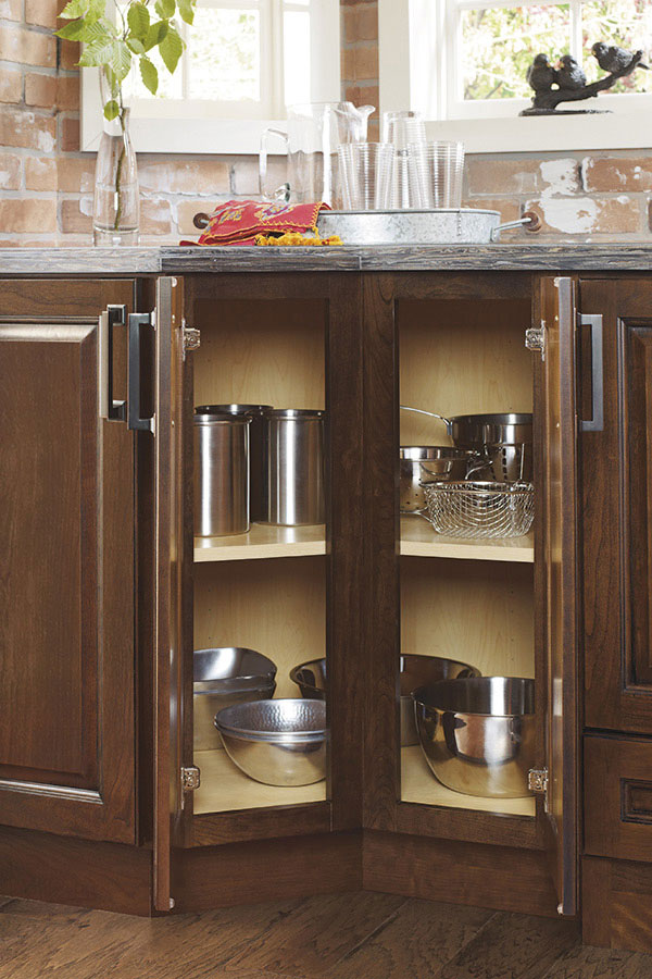 kitchen corner cabinet storage outdoor frame thomasville - specialty products 135 degree base