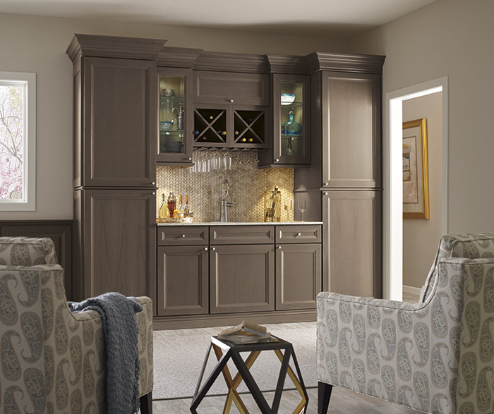 home depot cabinets kitchen lights for island thomasville - find your style russel cherry heather grey
