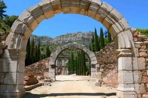 L'ancienne abbaye de Scala Dei, où la culture de la vigne a repris après le départ des Maures de Catalogne.