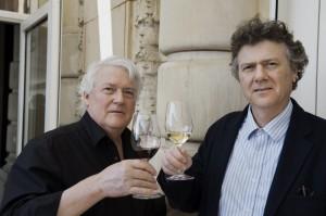 Le journaliste Andreas Keller et le président vaudois Charles Rolaz. © Hans-Peter Siffert, weinweltfoto.ch