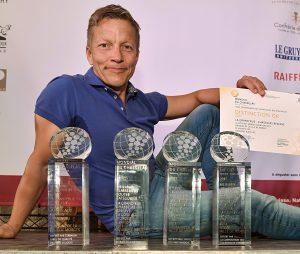 Marc Vicari, régisseur du Domaine de la Ville de Morges et tous ses trophées. © 2015,studio edouard curchod, tous droits réservés