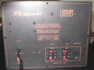 Klipsch Promedia V2400, V41, V21, And V51 Amplifier
