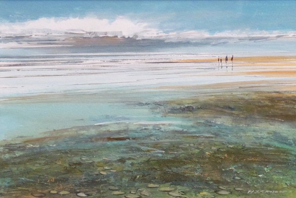 Beach West Runton In Michael Sanders Exhibition Aldeburgh Thompson' Galleries