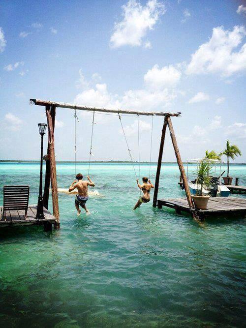 An ocean swing!