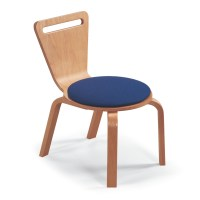 Children's Bent Wood Upholstered Seat Chair