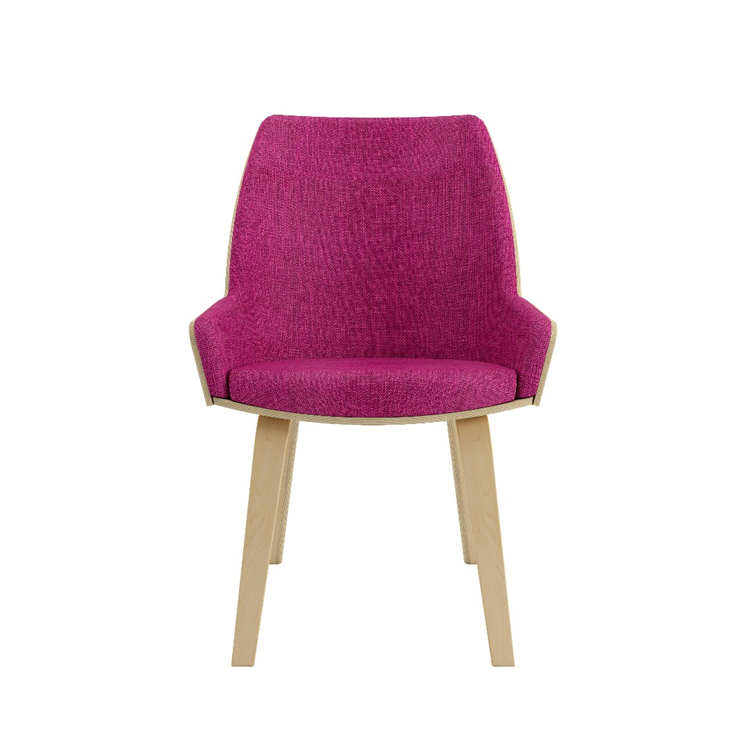 Bent Plywood High Back Lounge Chair