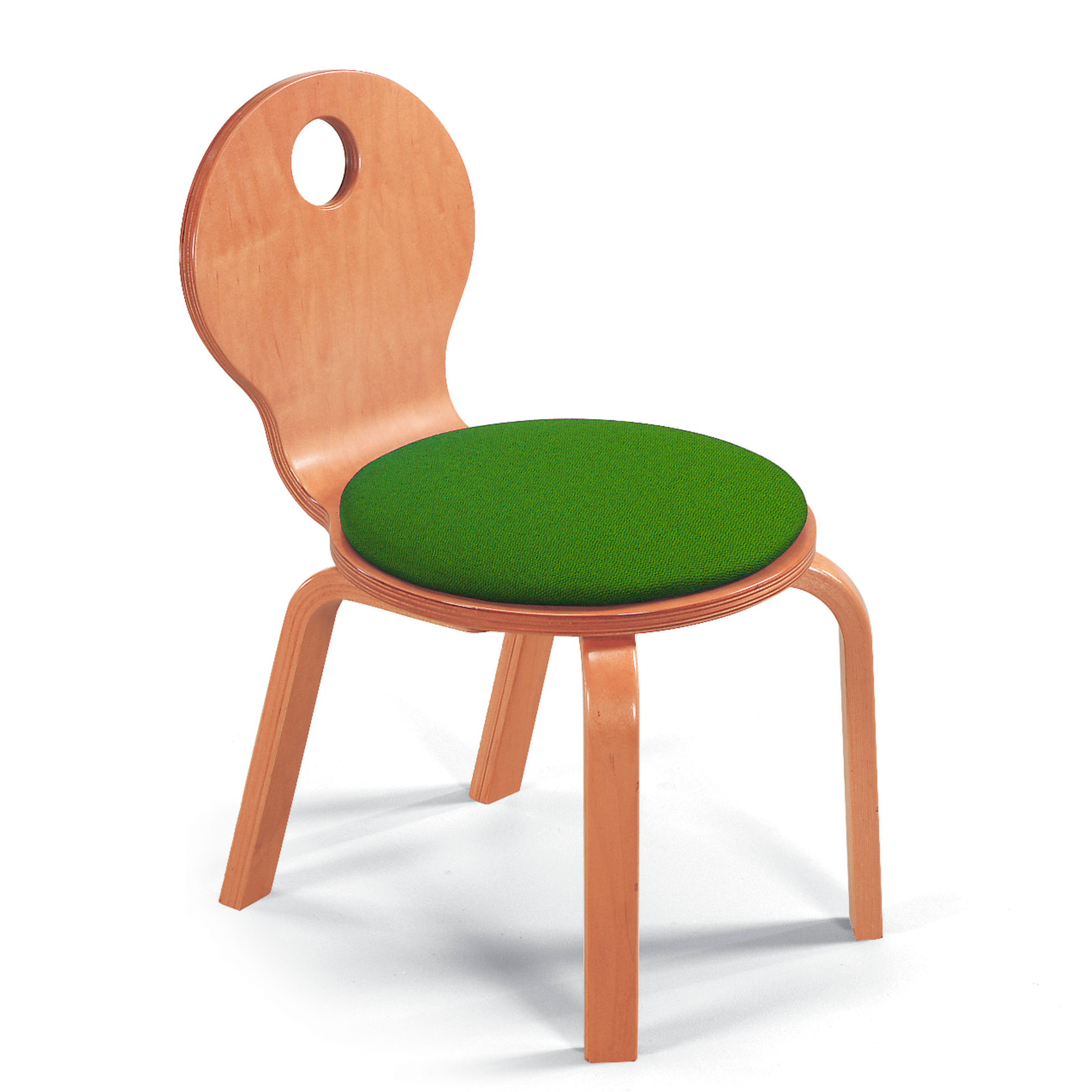 Childrens Bent Wood Upholstered Seat Chair