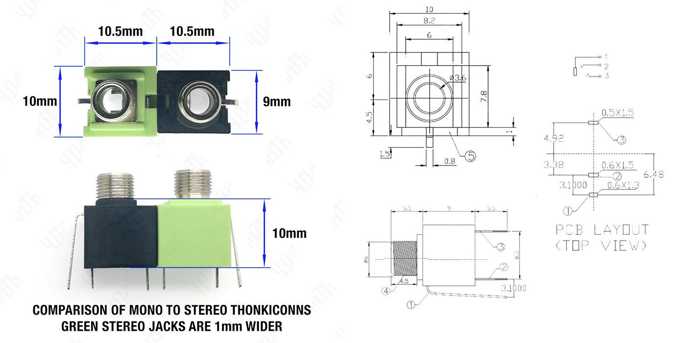 hight resolution of 3 5mm eurorack jacks