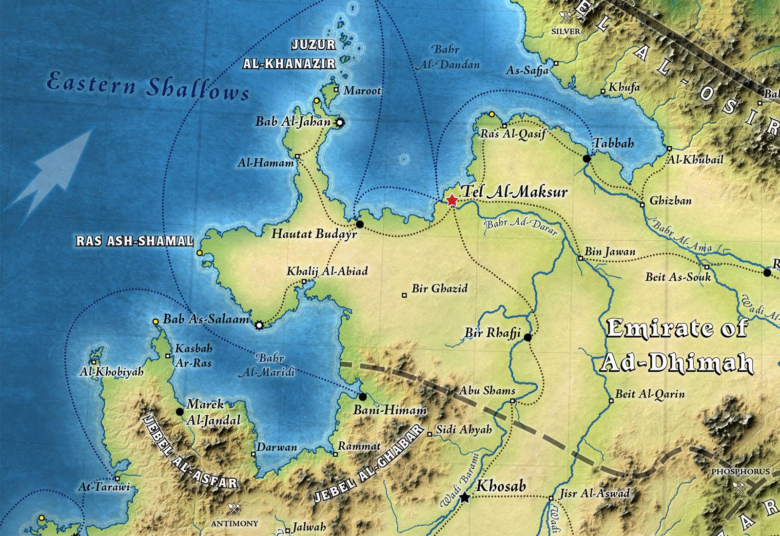 Narwan Topographic Map (Patreon)