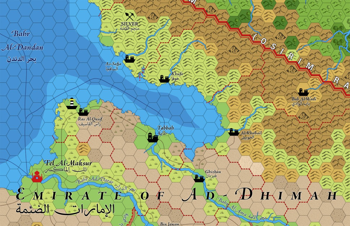 Emirate of Ad-Dhimah Hex Map (Patreon)