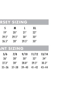 Women   racewear sizing also size charts thormx rh