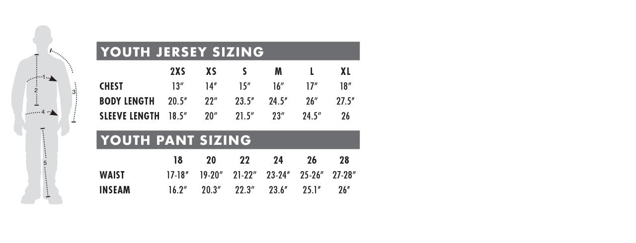 Youth Dress Size Chart