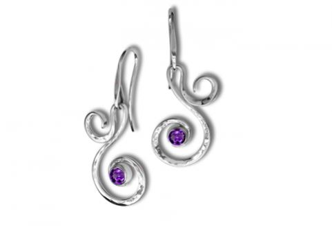 Ed Levin Fiddlehead Earrings