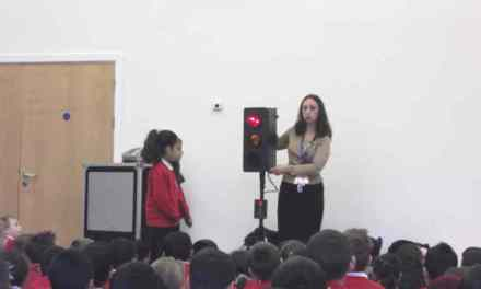 We had the Road Safety Team visiting our school this week.