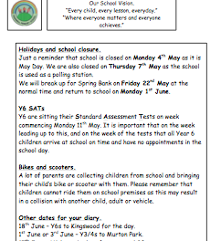 Newsletter 10 : 1 May 2015