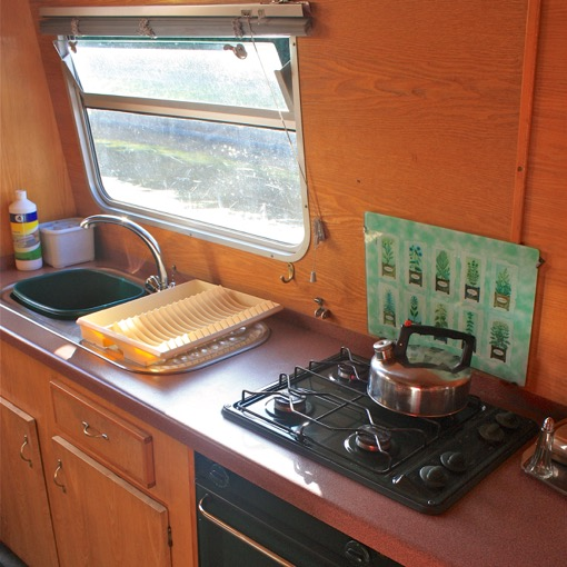 Galley Cheshire Cat hire boat thorn marine