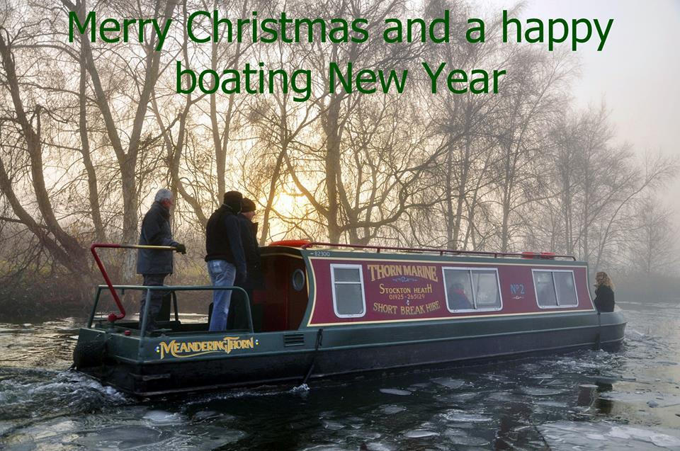 Winter dayboat hire merry christmas