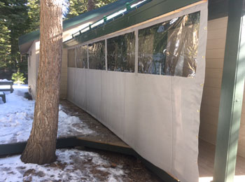 Porch Enclosures  Patio Covers and Plastic Privacy Walls