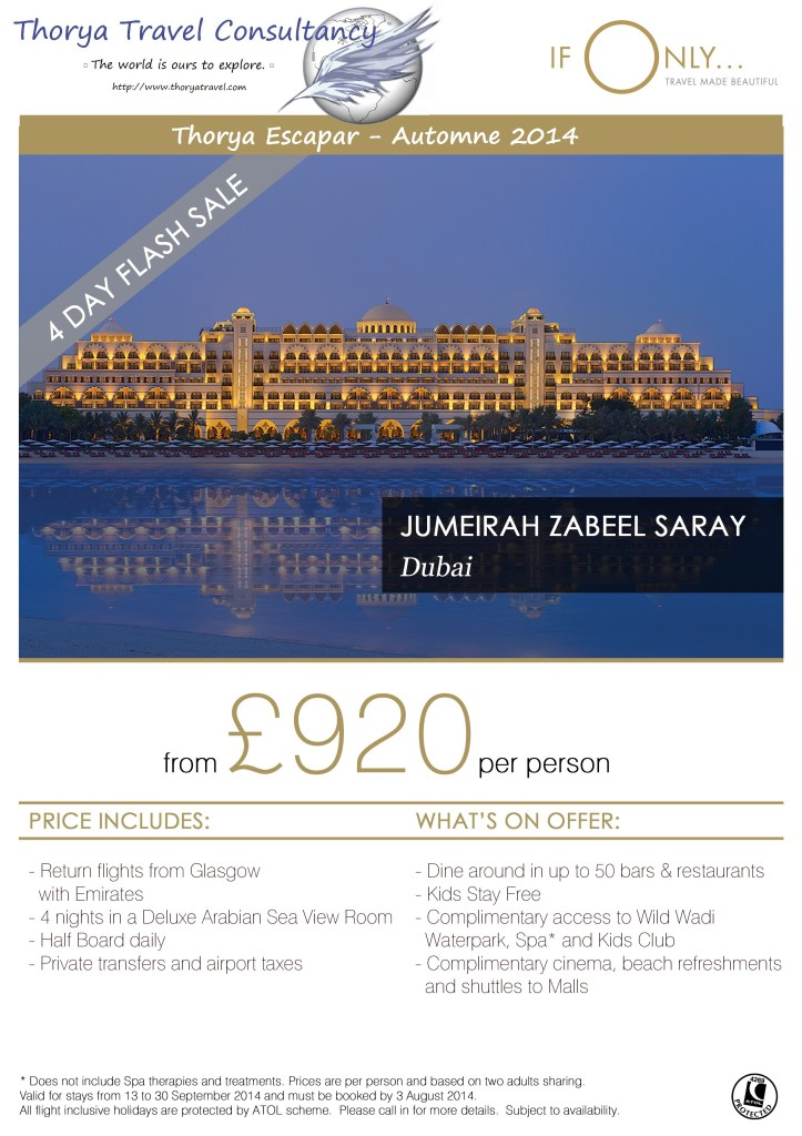 Thorya Escapar - DXB Zabeel Saray Flash Sale xUK GLA 29 Jul