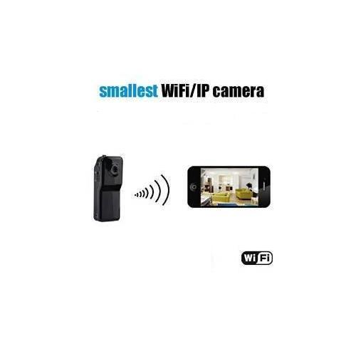Mini WiFi P2P Spy Camera Clip-on Style Sound Activated