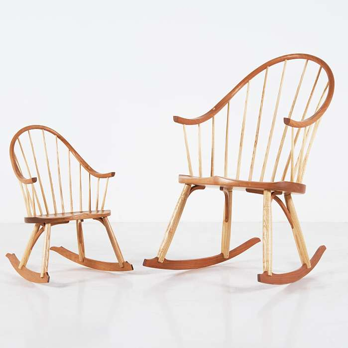 rocking chair rockers saddle seat chairs reviews thos moser child s continuous arm rocker