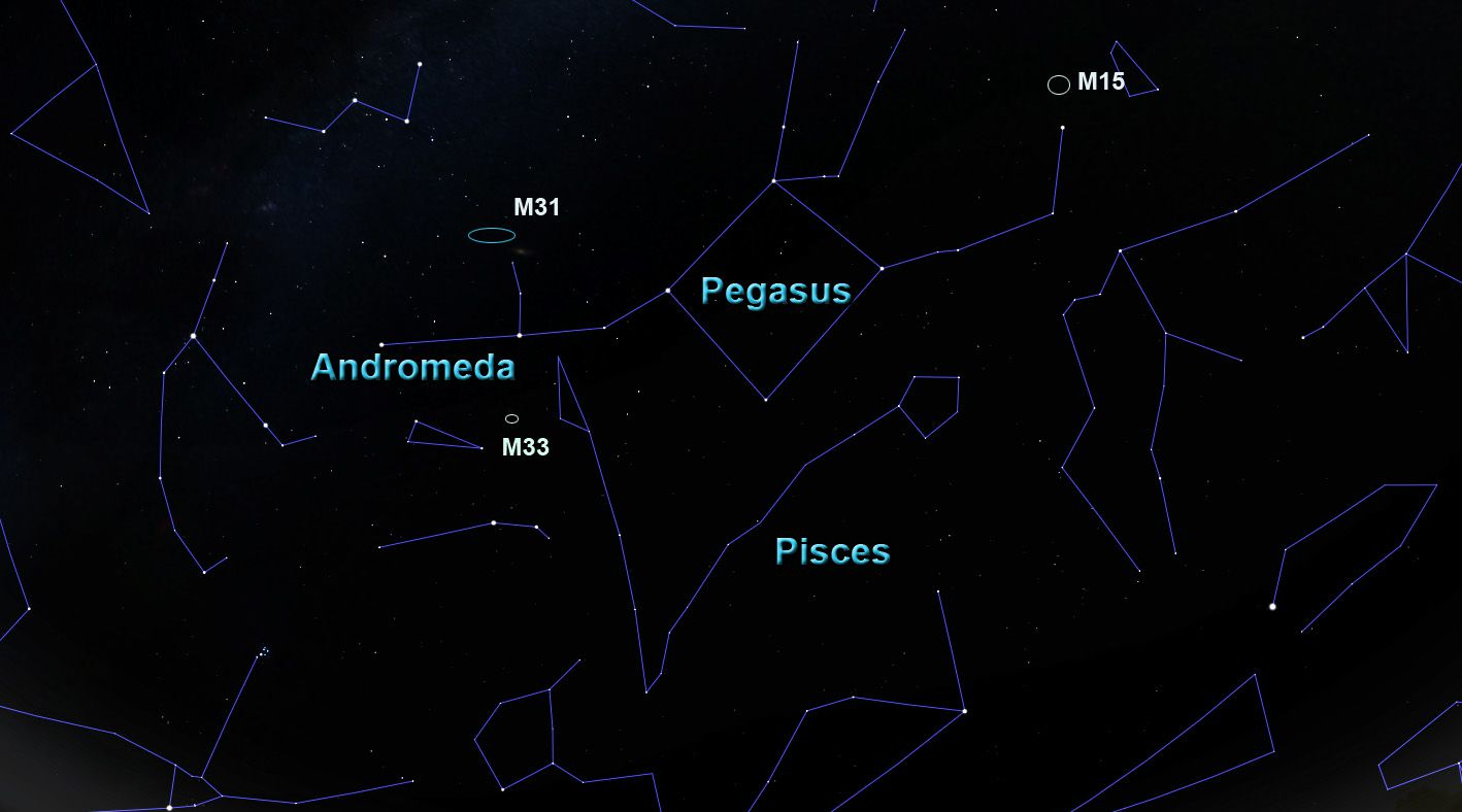 hight resolution of the constellation andromeda