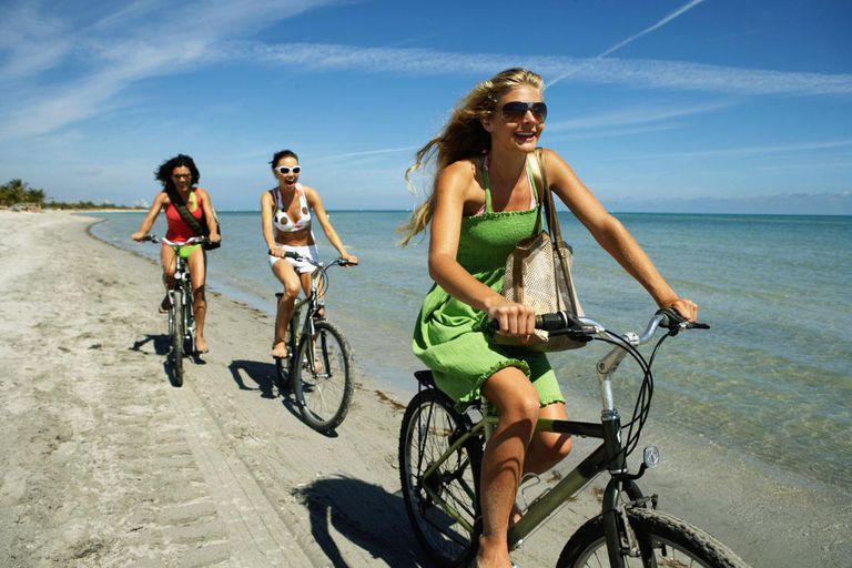 Image of bicycle ride for staying fir during travel