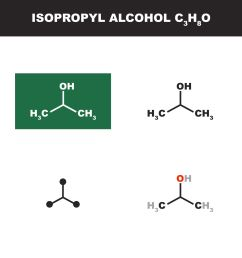 isopropyl alcohol chemical structures [ 1798 x 1667 Pixel ]