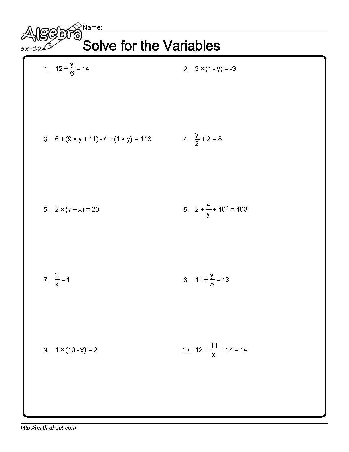 Linear Algebra Worksheet Distributive Property