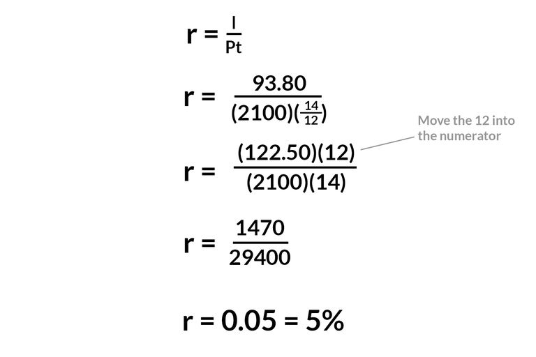 Calculate Simple Interest Principal, Rate, or Time