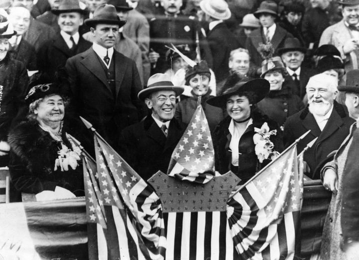 28th President Woodrow Wilson And Wife Edith In 1918 Getty Images