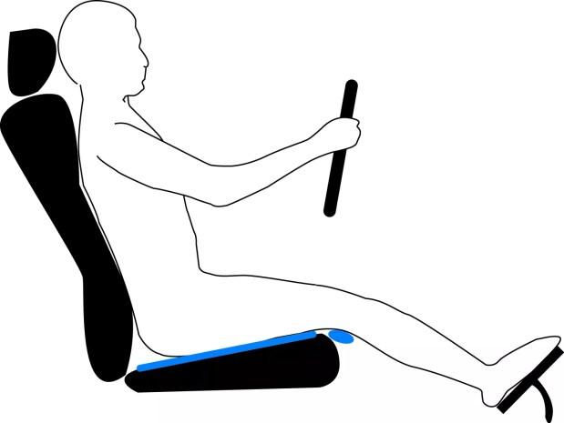 Ajuste do Assento do Motorista - Inclinação do Assento
