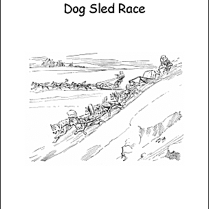 Iditarod Coloring Pages and Word Search Printables