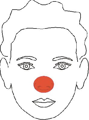 Easy Clown Face Painting Design